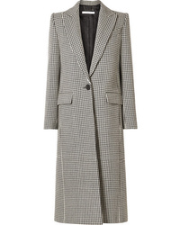 Manteau en pied-de-poule blanc et noir Givenchy