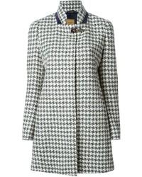 Manteau en pied-de-poule gris