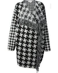 Manteau en pied-de-poule noir et blanc