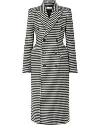 Manteau en pied-de-poule noir et blanc Balenciaga