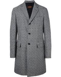 Manteau en pied-de-poule noir Tod's