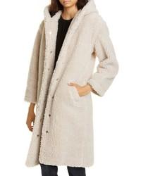 Manteau en polaire beige