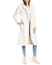 Manteau en polaire blanc