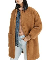 Manteau en polaire marron clair