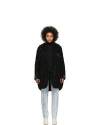 Manteau en polaire noir MM6 MAISON MARGIELA