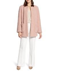 Manteau en polaire rose