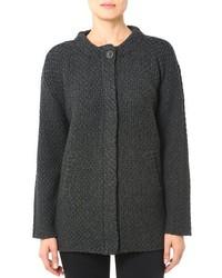 Manteau en tricot gris foncé