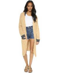 Manteau en tricot marron clair