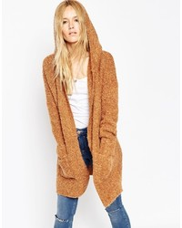 Manteau en tricot marron clair Asos