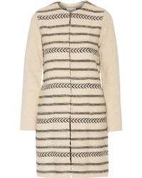 Manteau en tricot marron clair Tory Burch
