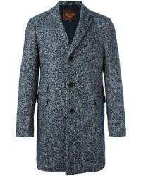 Manteau en tweed à chevrons bleu Tod's