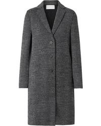 Manteau en tweed à chevrons gris foncé Harris Wharf London