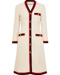 Manteau en tweed blanc Gucci