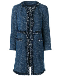 Manteau en tweed bleu marine Theory