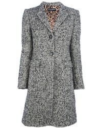 Manteau en tweed gris