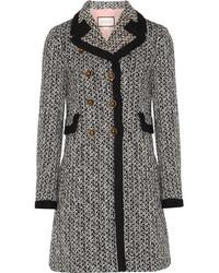 Manteau en tweed noir Gucci