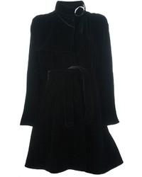 Manteau en velours noir Giorgio Armani