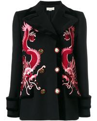 Manteau en velours noir Gucci