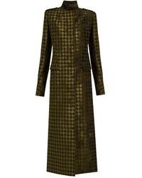 Manteau en velours olive