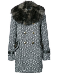 Manteau géométrique gris foncé Marc Jacobs