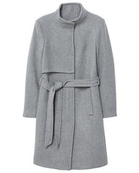 Manteau gris Mango