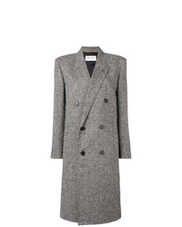 Manteau gris Saint Laurent