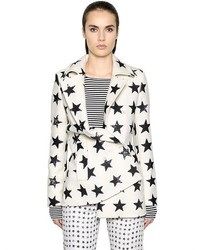 Manteau imprimé blanc et noir
