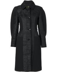 Manteau imprimé cachemire noir Etro