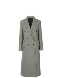 Manteau imprimé gris foncé Lanvin