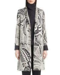 Manteau imprimé gris