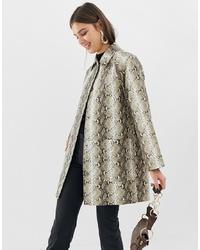 Manteau imprimé gris ASOS DESIGN
