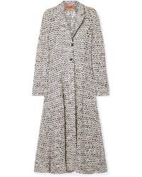 Manteau imprimé gris Missoni