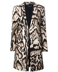 Manteau imprimé léopard beige