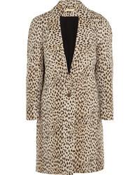 Manteau imprimé léopard beige Diane von Furstenberg