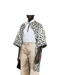 Manteau imprimé léopard blanc et noir