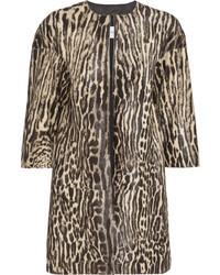 Manteau imprimé léopard brun clair Valentino