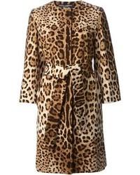 Manteau imprimé léopard brun