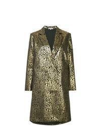 Manteau imprimé léopard doré Layeur
