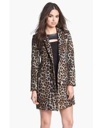Manteau imprimé léopard gris
