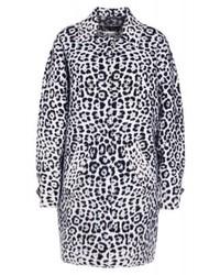 Manteau imprimé léopard gris Michael Kors