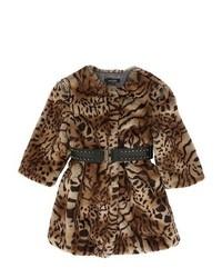 Manteau imprimé léopard marron clair