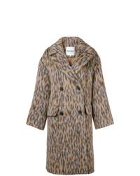 Manteau imprimé léopard brun clair Kenzo