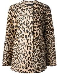 Manteau imprimé léopard marron clair Marni