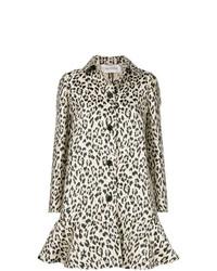 Manteau imprimé léopard marron clair Valentino