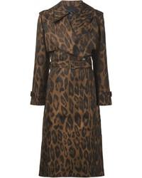 Manteau imprimé léopard marron Lanvin