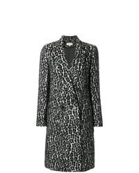 Manteau imprimé léopard noir et blanc MICHAEL Michael Kors
