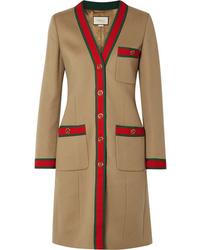 Manteau imprimé marron clair Gucci