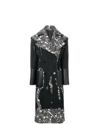 Manteau imprimé noir et blanc Alexander McQueen