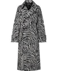 Manteau imprimé noir et blanc Joseph