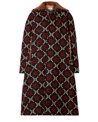 Manteau imprimé noir Gucci